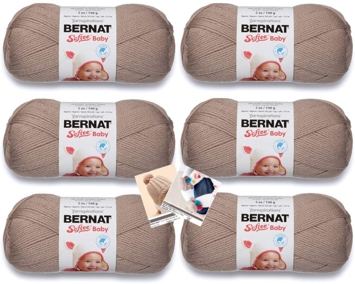 Bernat Softee Baby Yarn - 6 Pack with Pattern (Little Mouse)