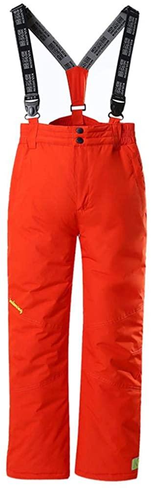 Girls and Boys Ski Pants Outdoor Waterproof Windproof Snow Ski Hiking Pants Snow Bib Overalls 8
