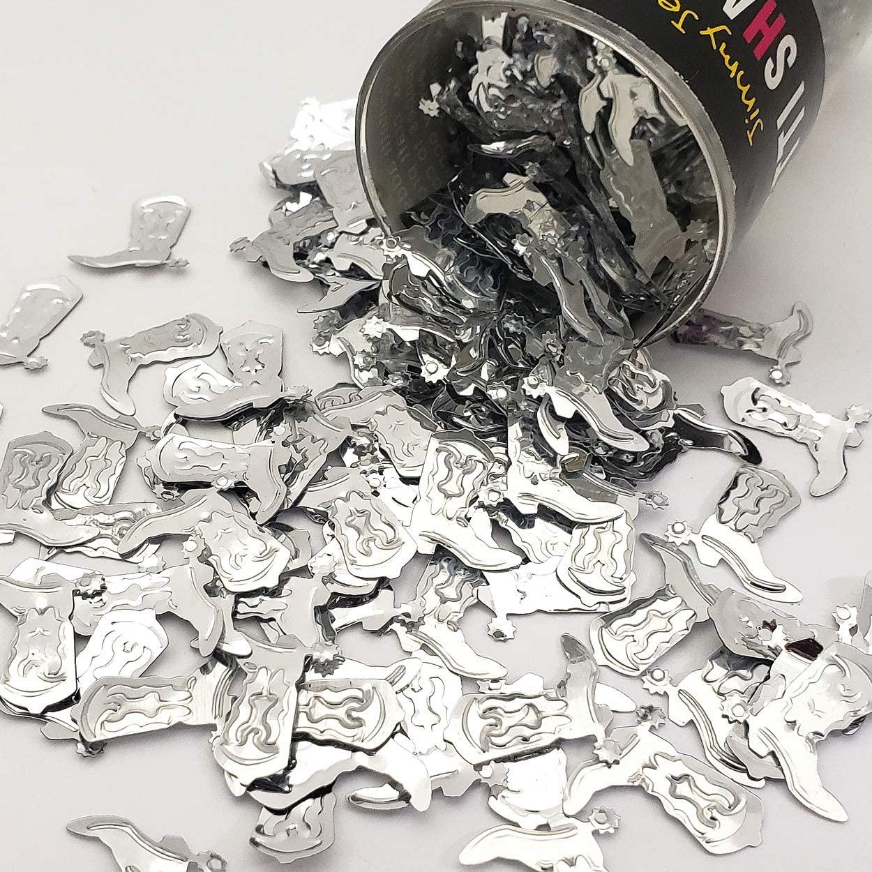 Confetti Cowboy Boot w/Spur Silver - Retail Pack #9026 QS0