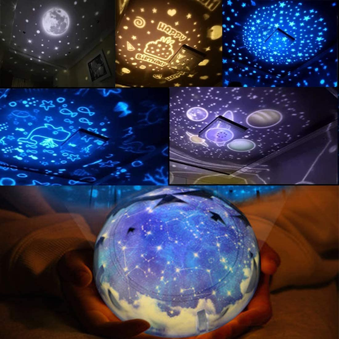 Star Night Lights Gifts for Kids Age 3-10, Constellation Stars Projector Lamp Nursery Night Light for Boys Girls Bedroom Kids Room Decor Lamps 3 4 5 6-10 Year Old Boy Girl Toy Birthday Xmas Gifts