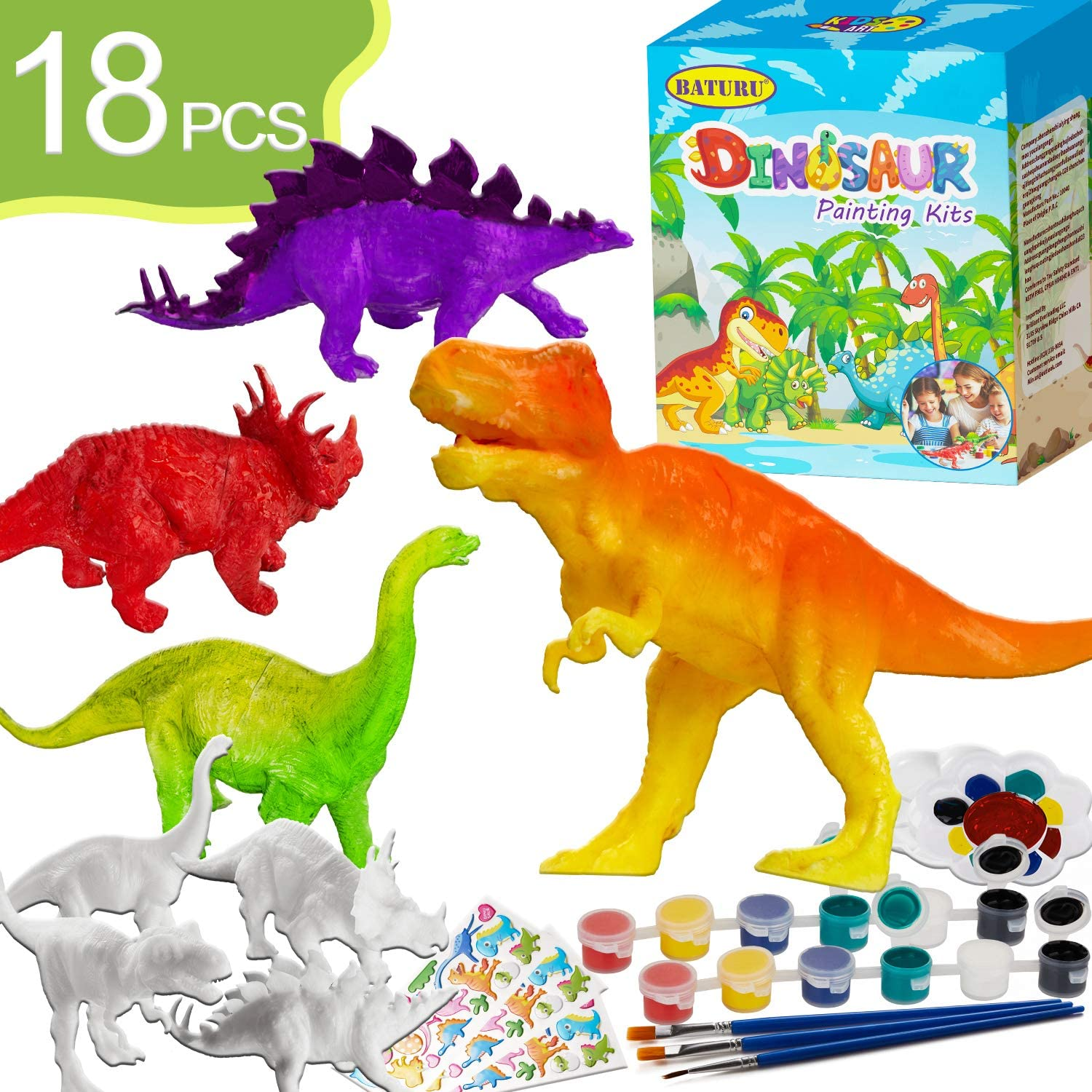 BATURU Dinosaur Painting Kits for Kids Toys, Arts and Crafts for Kids Ages 4-12,Party Favors for Kids