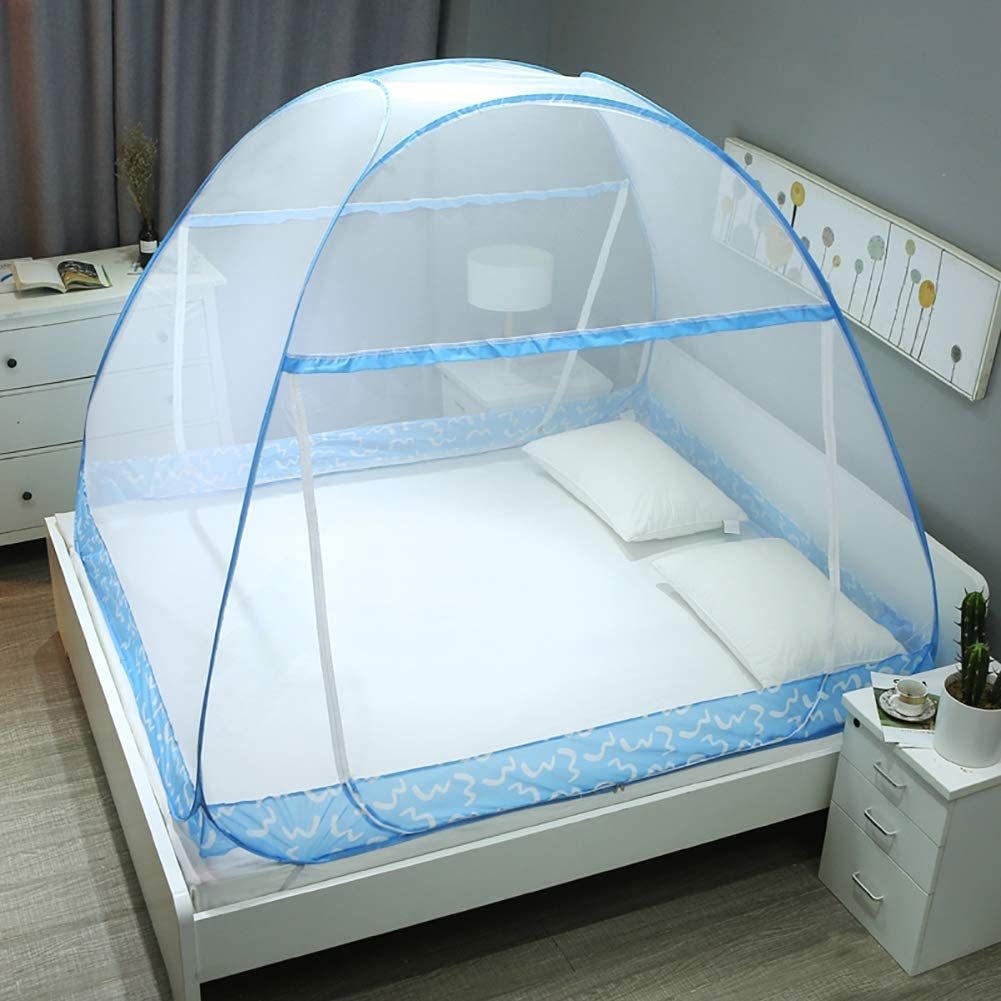 HEXbaby Mosquito Net Tent for Double Beds Foldable with Full Bottom,135x200cm