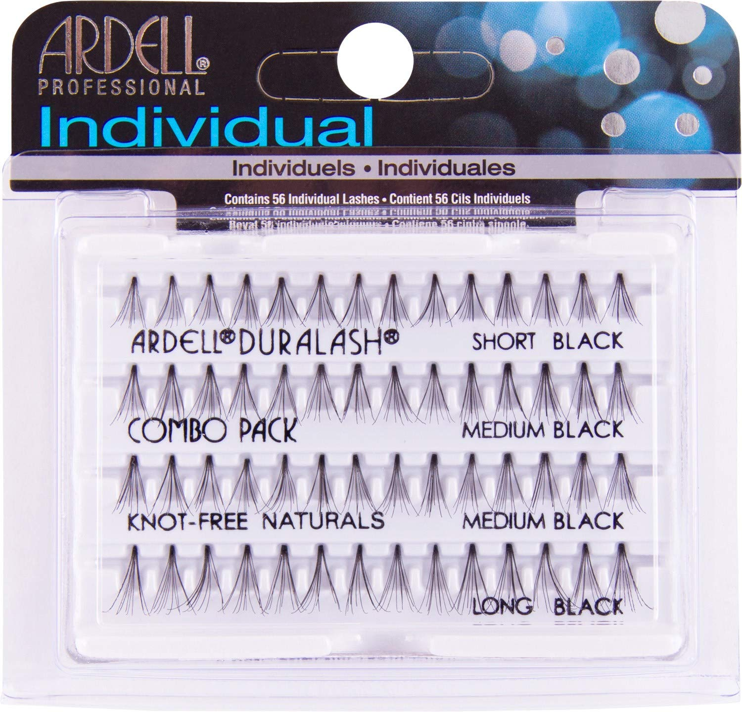 Ardell DuraLash Naturals Combo Pack - Flare Short, Medium, Long Black 240485