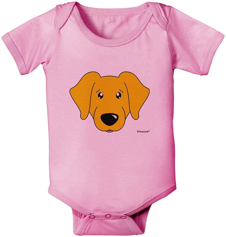 TOOLOUD Cute Yellow Labrador Retriever Dog Baby Romper Bodysuit