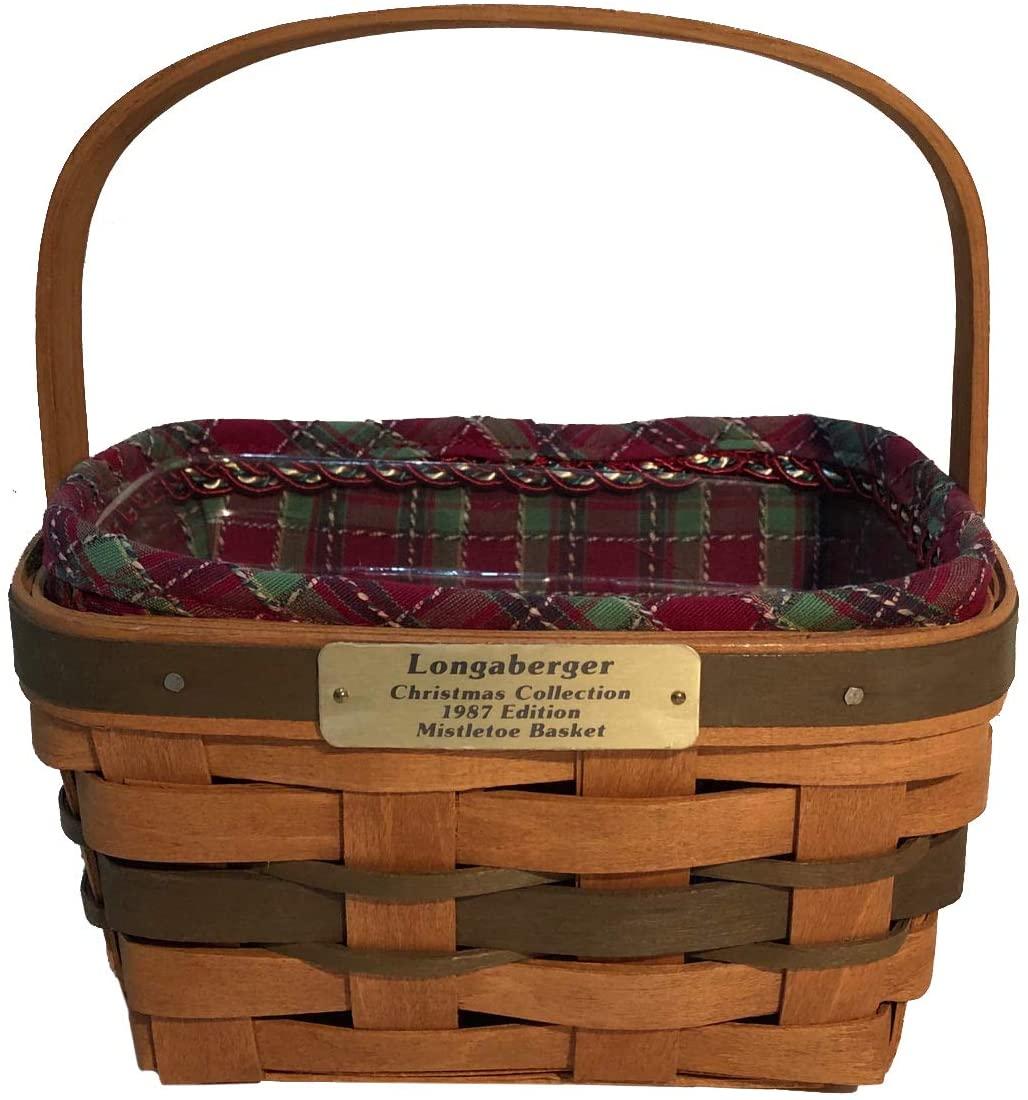 Longaberger 1987 Christmas Collection Mistletoe Basket Combo (Green)