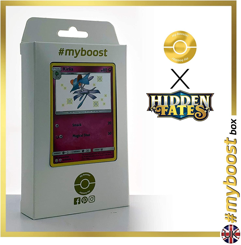 Kirlia SV35/SV94 Shiny - #myboost X Sun & Moon 11.5 Hidden Fates - Box of 10 Pokemon English Cards