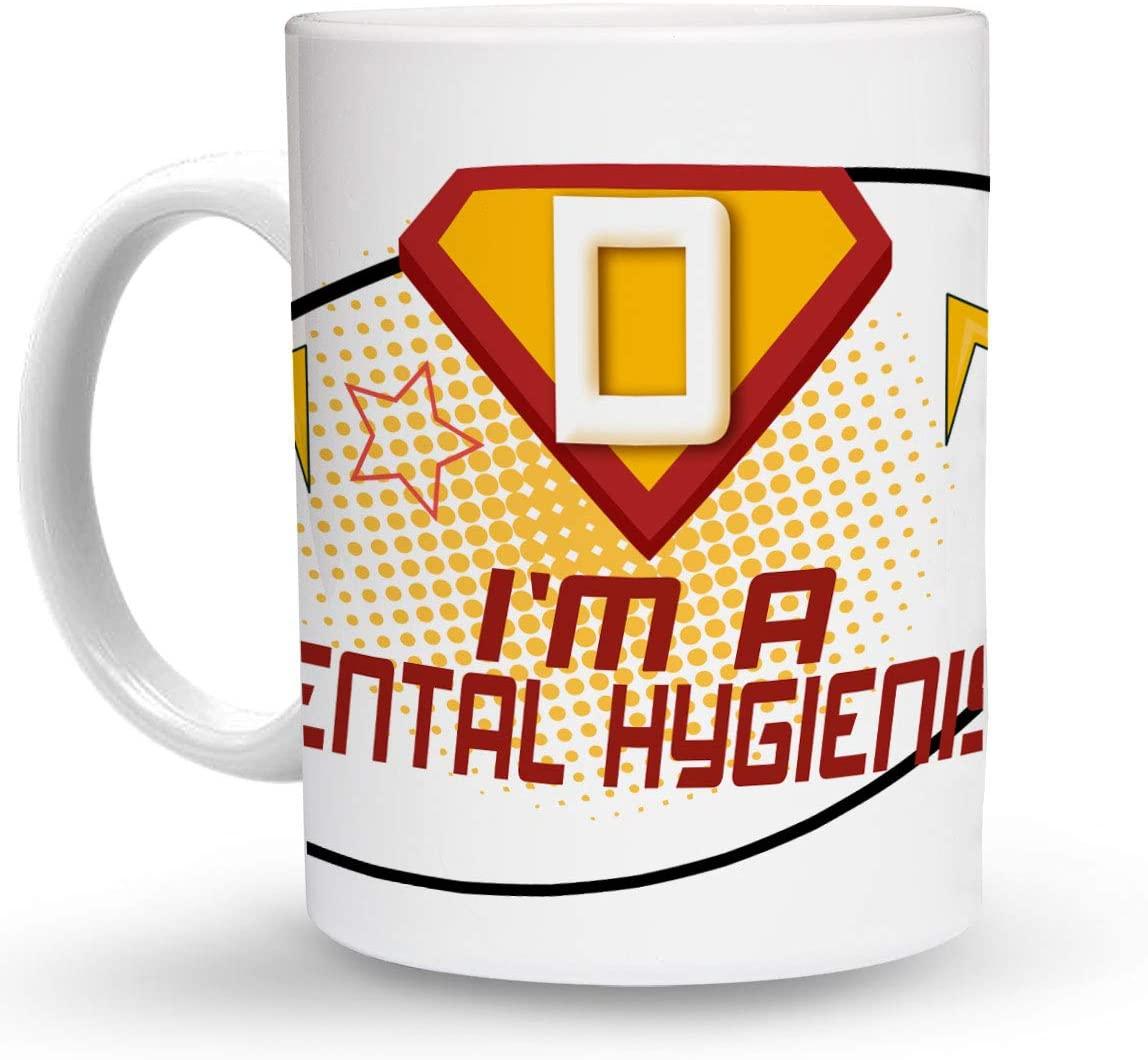 Makoroni - I'M A DENTAL HYGIENIST Career 6 oz Ceramic Espresso Shot Mug/Cup Design#59