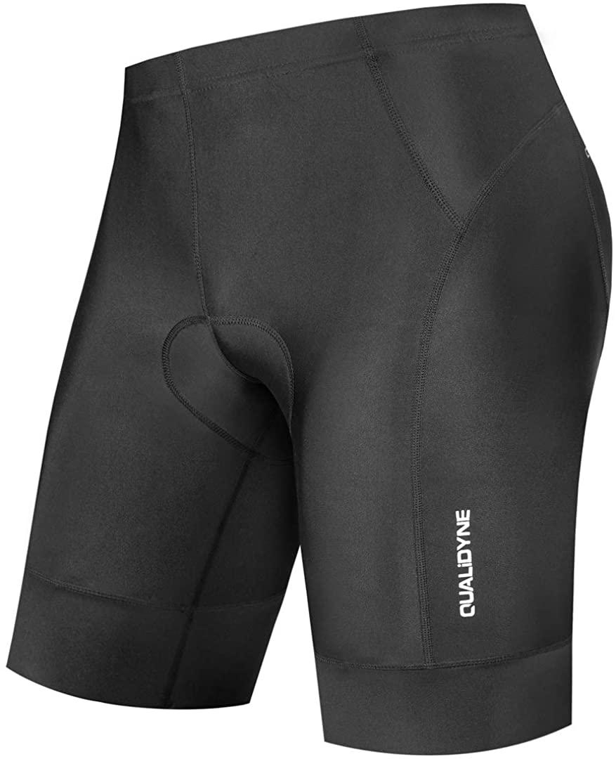 qualidyne Men's Bike Cycling Shorts, Bicycle Biking Riding Shorts, 3D Padded Half Pant -Quick Dry & Comfy
