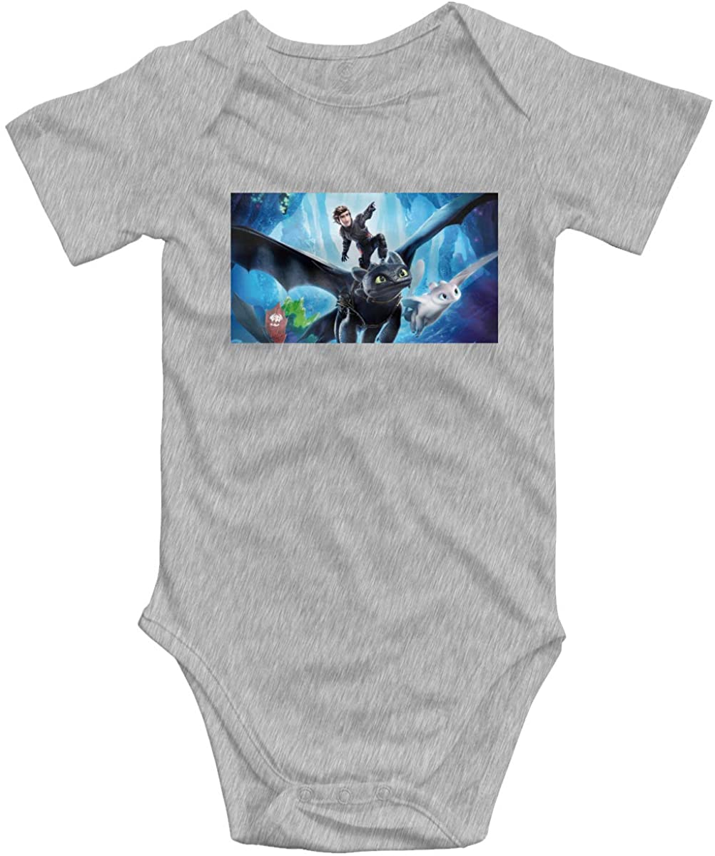 How to Train Your Dragon Baby Bodysuit Blink Climbing Clothes Gray