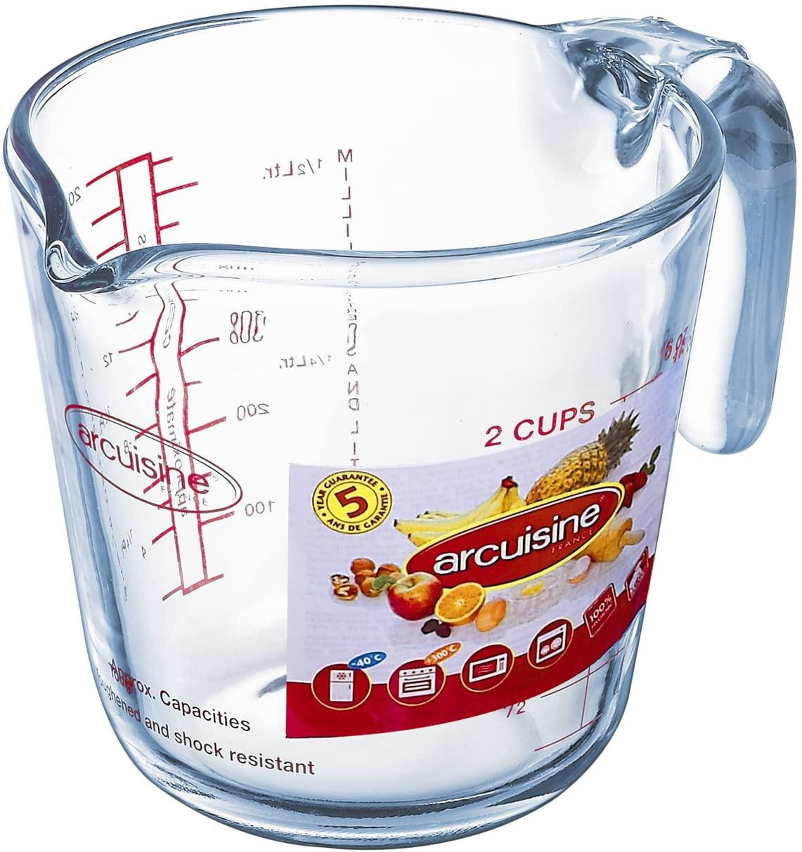 Arcuisine Glass 16.9 Ounce Measuring Cup