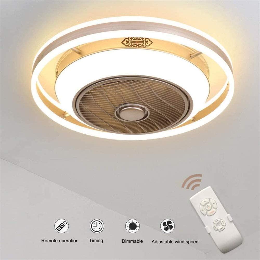 HWZQHJY LED Negative Ion Fan Light Modern Minimalist Restaurant Ceiling Fan (Size : 60cm)