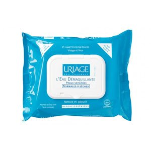 Uriage 25 Make-up Removing Wipes. Face and Eyes.