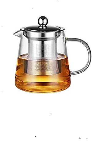 Luoshan Large Capacity Heat Resistant Glass Teapot Tea Set with Stainless Steel Filter for Kung Fu Tea, Capacity:550ML