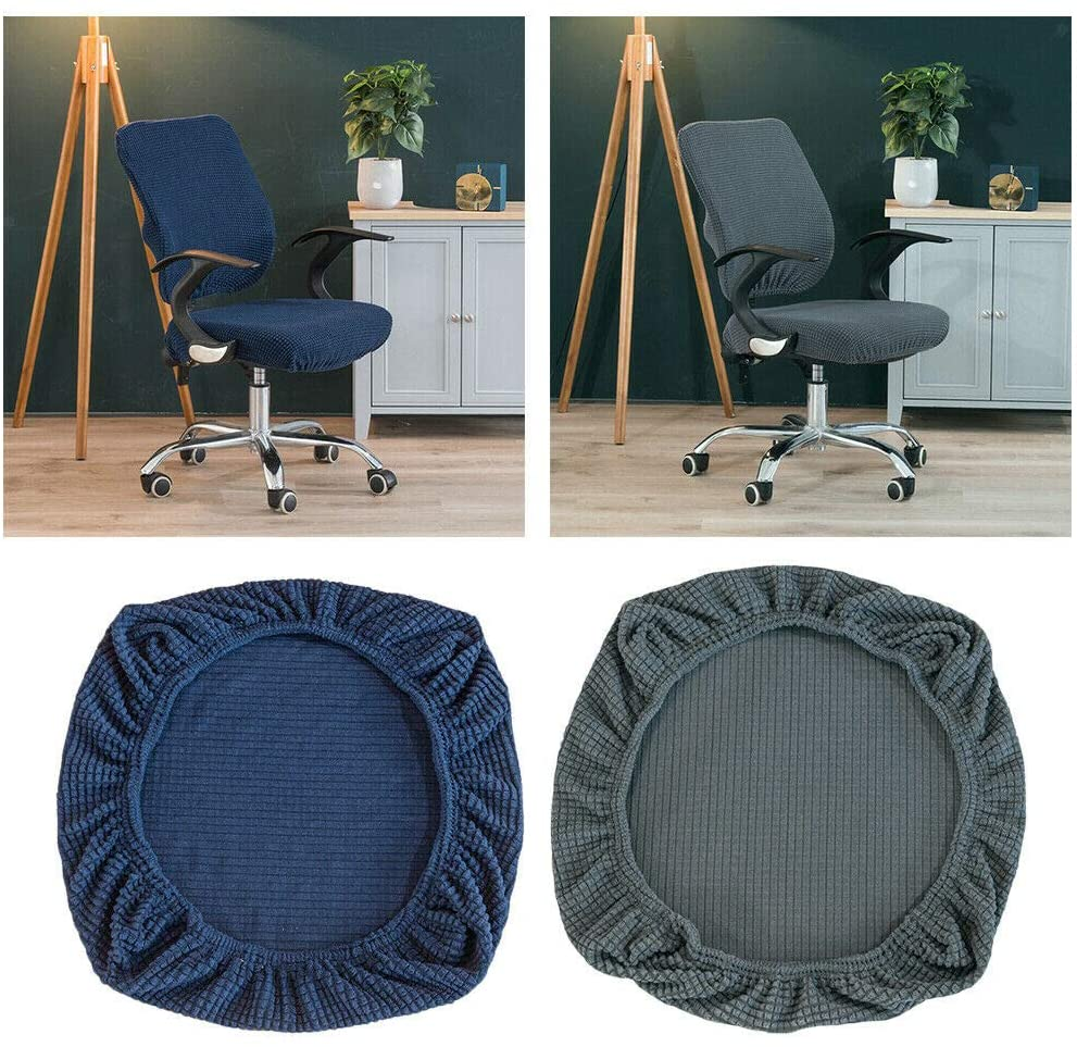 Slipcovers 2X Office Rotate Chair Slipcover Dining Stool Seat Cover Protector for Resturant