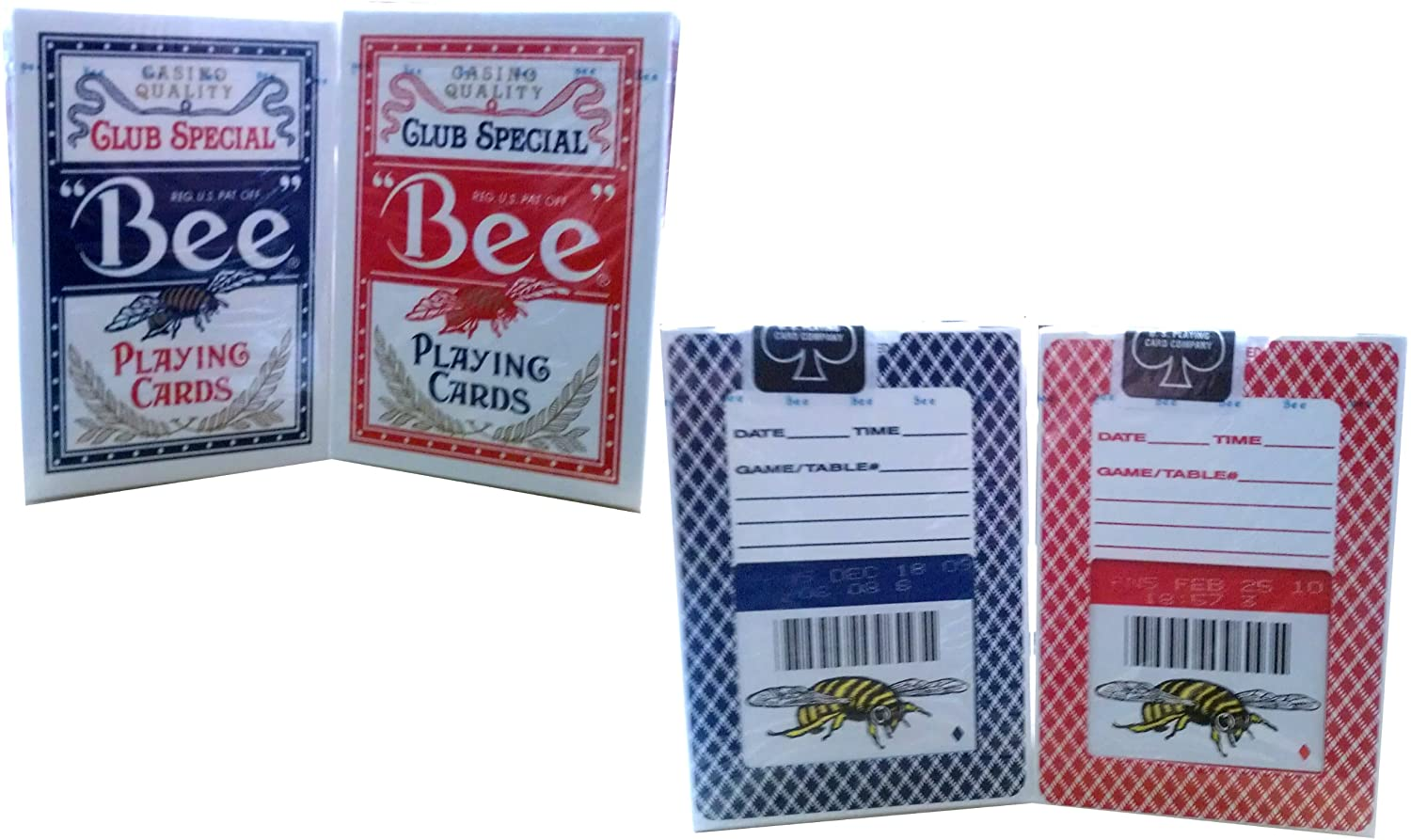 Bee Lot 2 Bumble Black Jack Club Special Generic Casino Quality Playing Cards