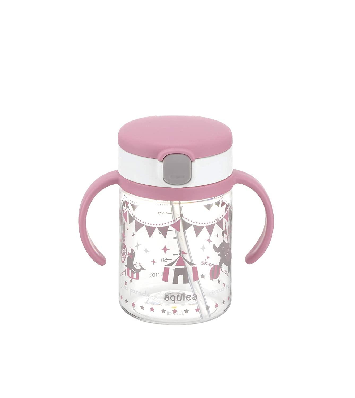 Richell Aqulea Outing Straw Mug 200ml Pink