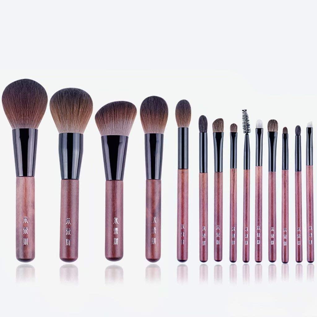 Make Up Brushes, 14 Pcs Professional Synthetic Makeup Brush Set Face Eyeshadow Foundation Blush Liquid Cream Blending Brush Beginner Makeup Tools