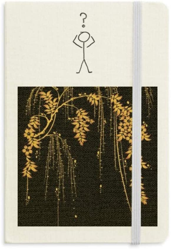 PaintingJ apanese Yellow Flower Question Notebook Classic Journal Diary A5