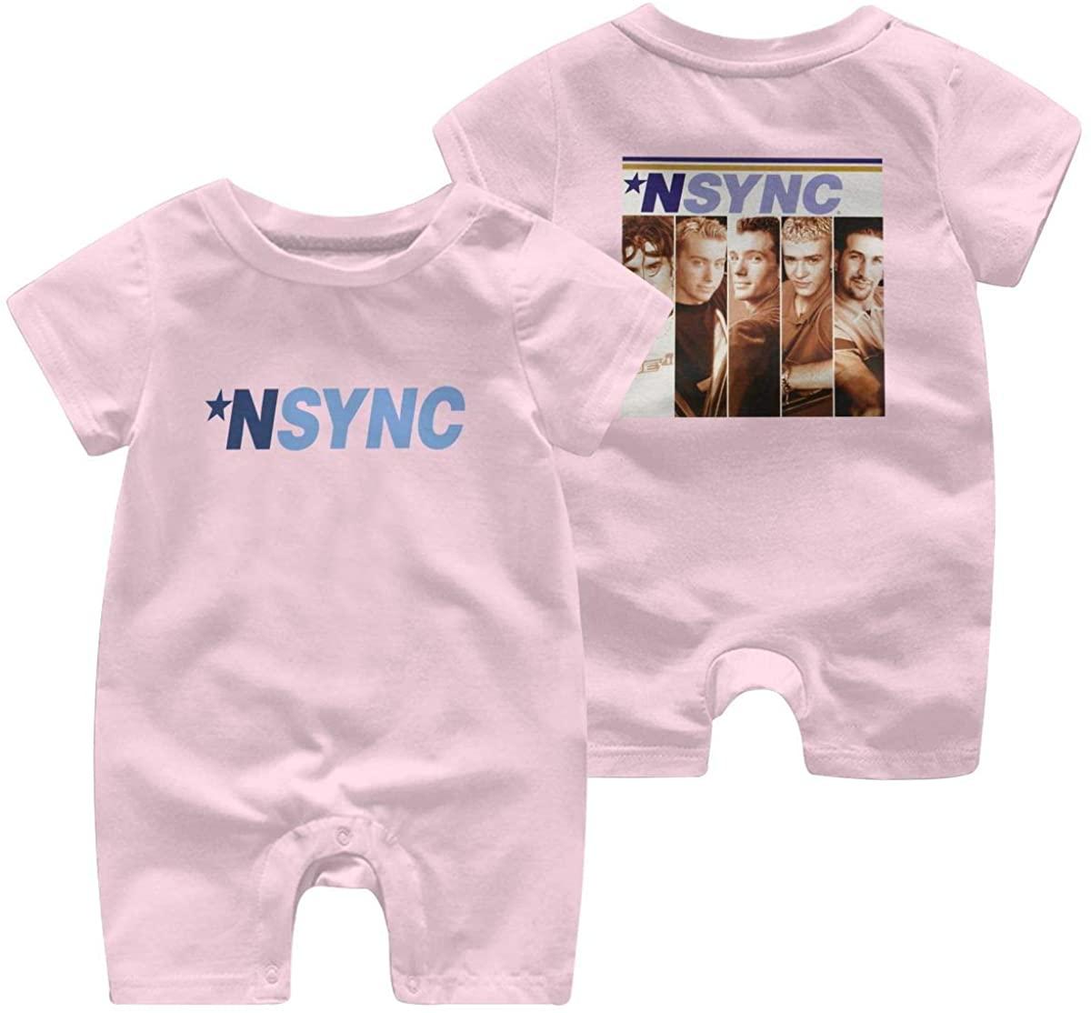 Wehoiweh NSYNC Boxes Leisure Baby Short Sleeve Jumpsuit Kid Baby Pajama Sleeper Romper Romper Jumpsuit