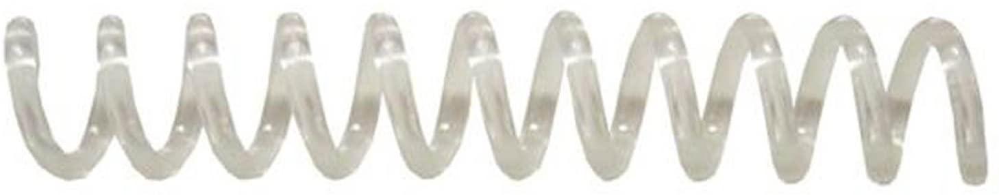 Spiral Binding Coils 7mm (9/32 x 12) 4:1 [pk of 100] Clear