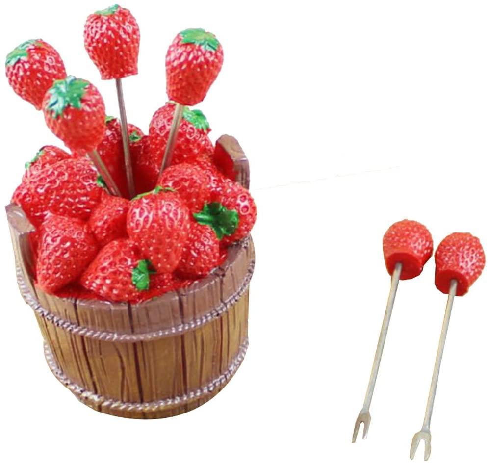 Lovely Stainless Steel Fruit Forks Salad Forks Dessert Forks - Strawberry