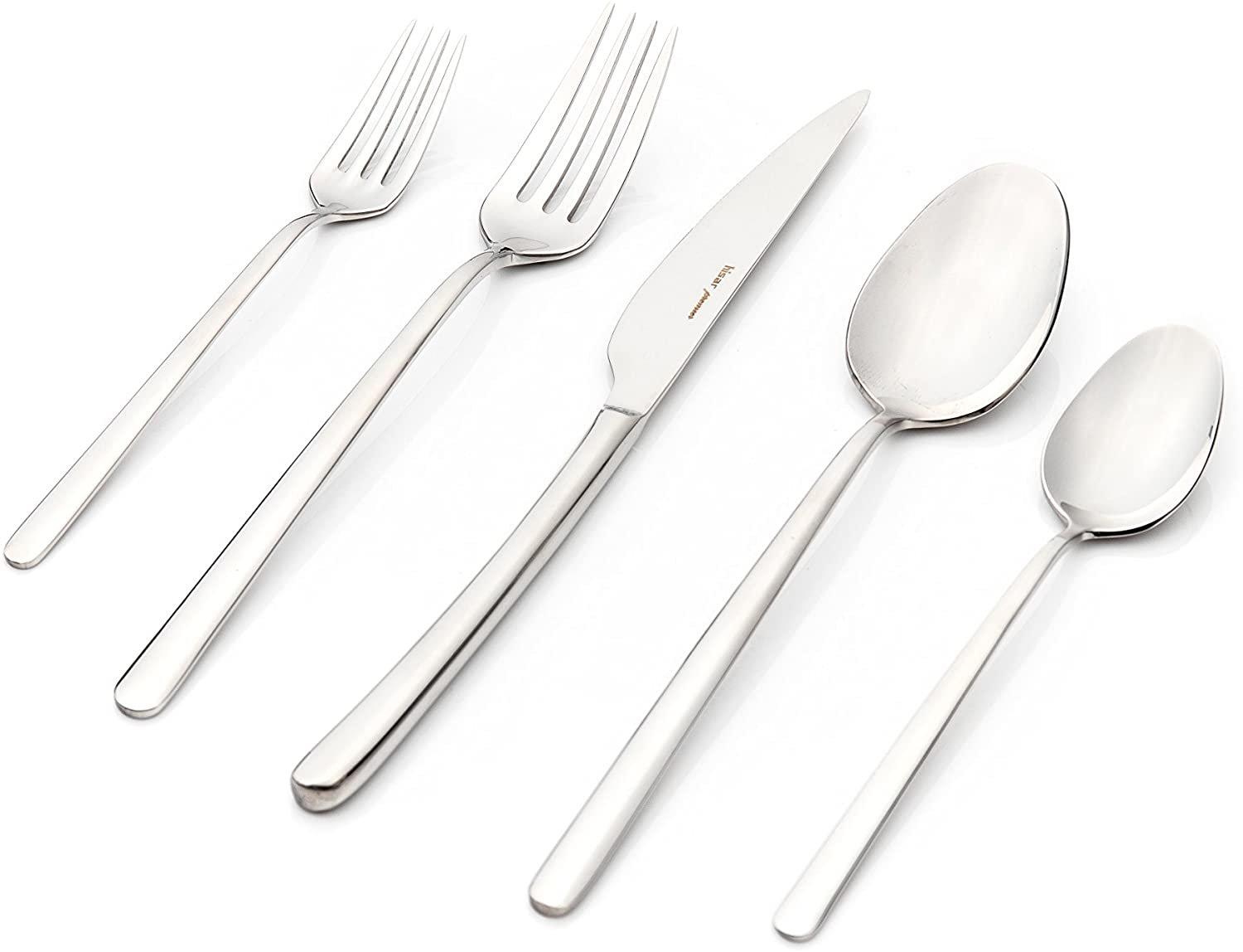 Hisar 30 Piece Bahama Flatware Set, Mirror-Polished Finish