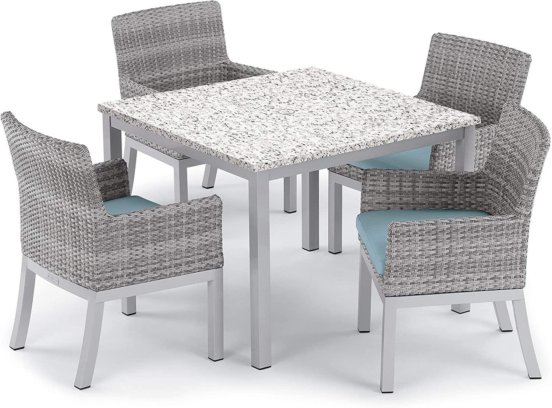 Oxford Garden 5614 Travira & Argento Furniture Set, Powder Coat Flint