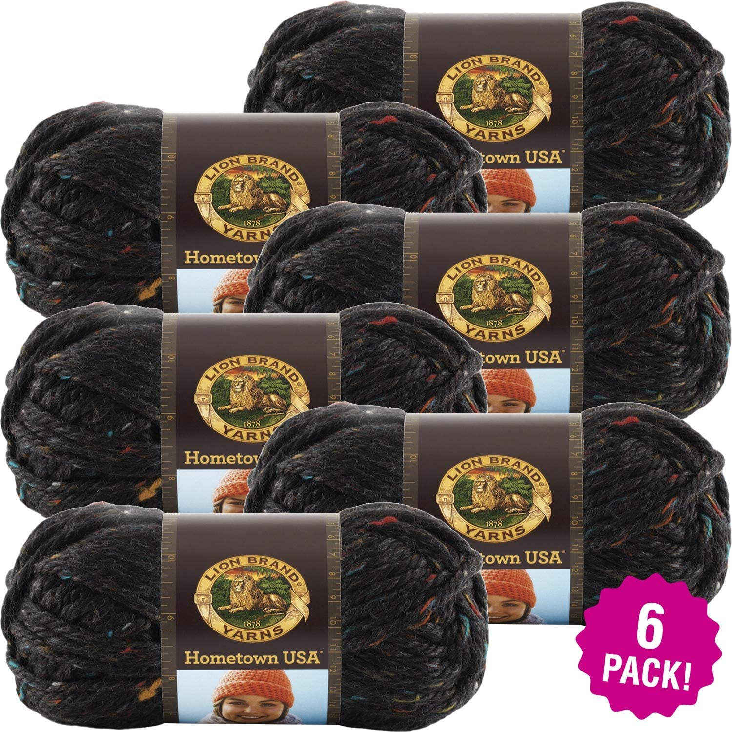 Lion Brand Cambridge Tweed Hometown USA Yarn 6/Pk 6 Pack