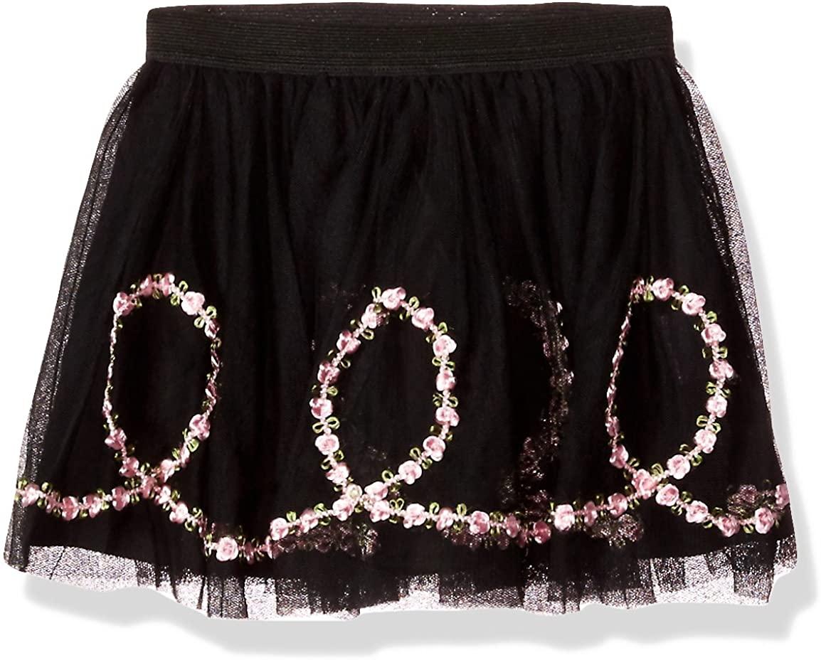 Kate Mack Girls' Rumba Roses Netting Skirt