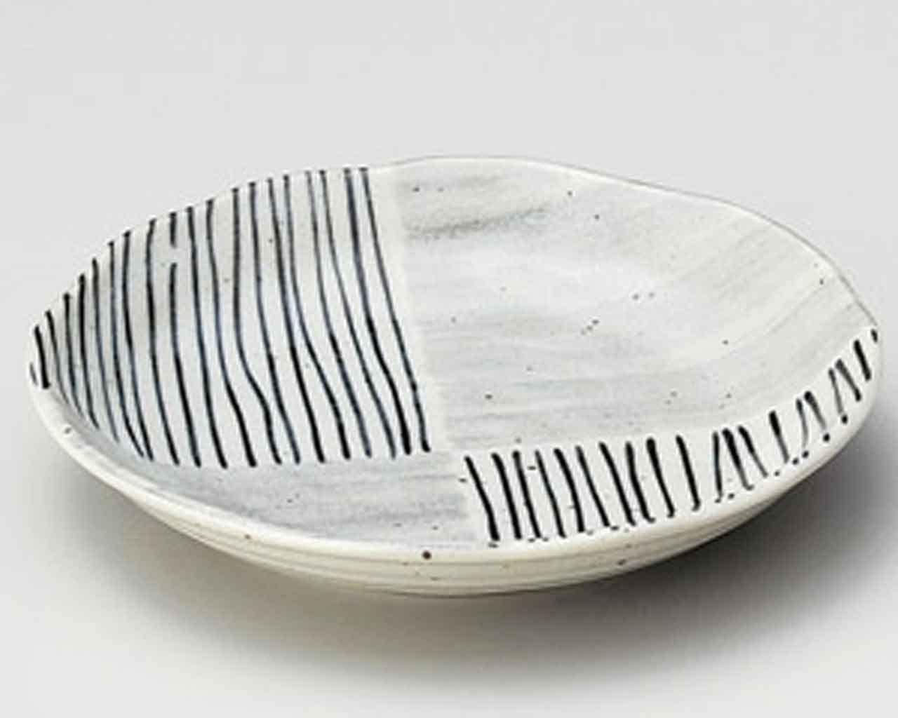 Karatsu Ichimatsu 4.7inch Set of 2 Small Plates Grey porcelain Made in Japan