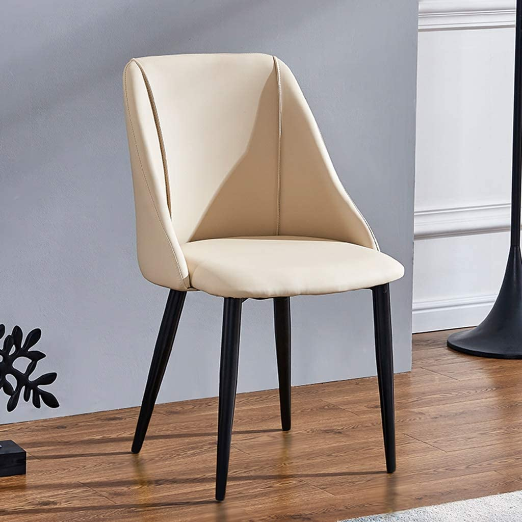 GWW Modern Minimalist Light Luxury Dining Chair Adult Restaurant Home Backrest Chair Nordic Lazy Leisure Chair Ins Chair Wrought Iron Soft Comfortable Simple and Luxurious (Color : Yellow)