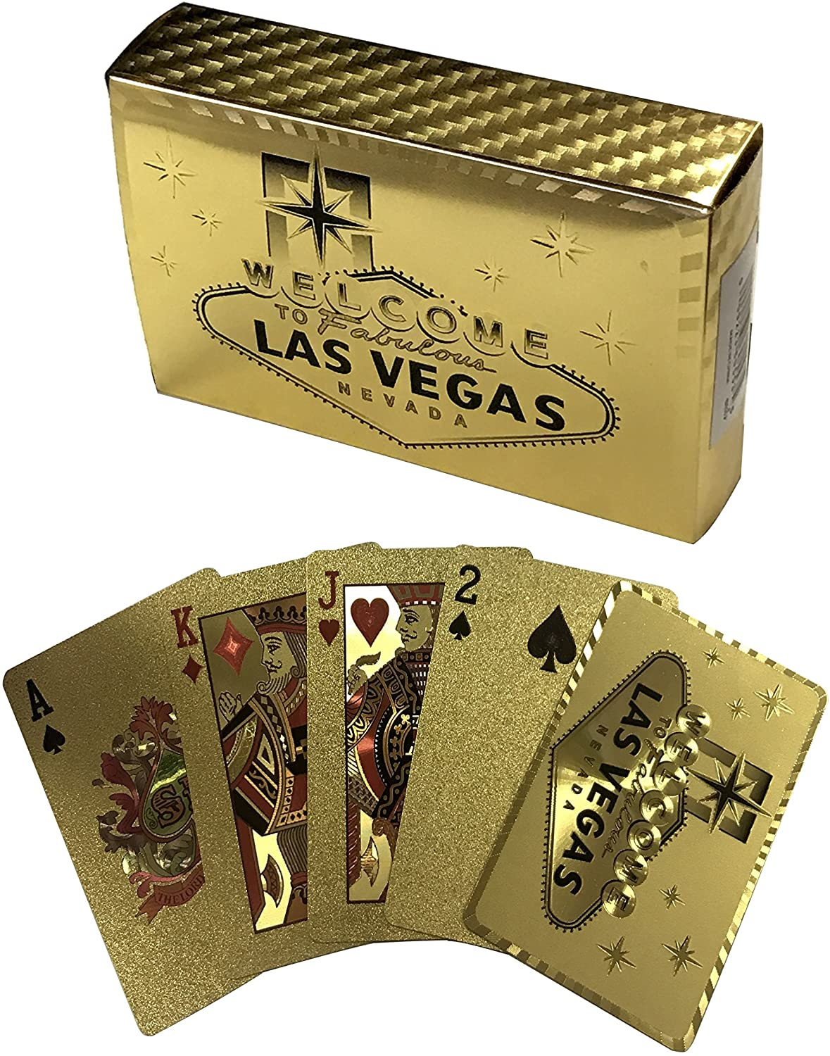 Welcome to Fabulous LAS Vegas Playing Cards in Shiny Gold (FOIL)