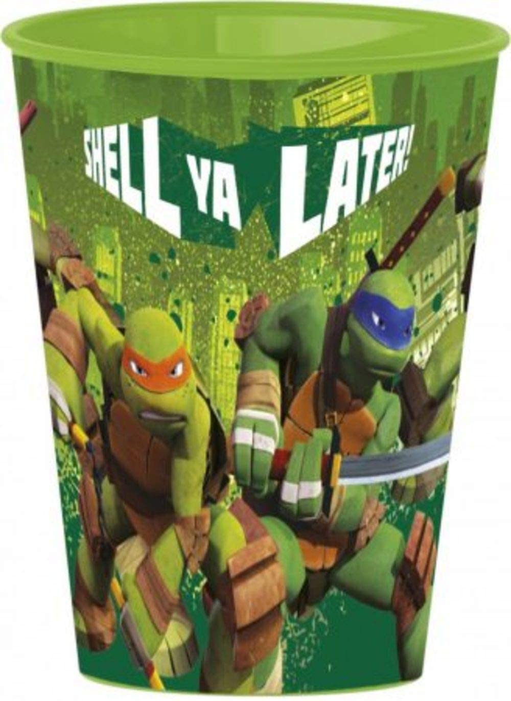 Character TMNT Ninja Turtles Pack 4 Plastic Cup 260ml