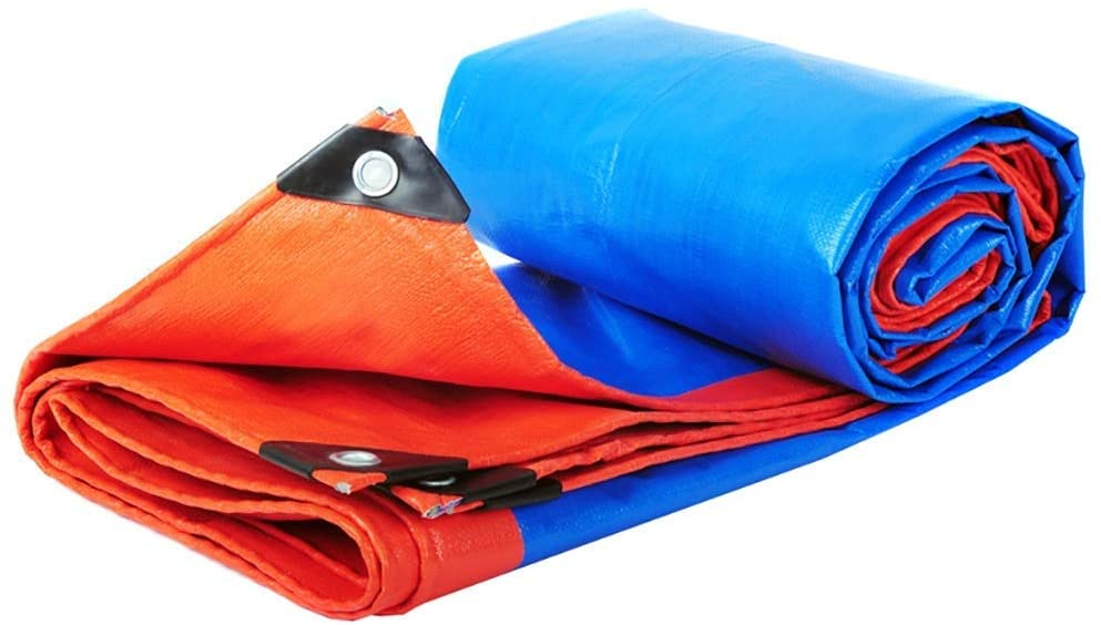 HOMRanger Double-Sided Waterproof Polthylene (PE) Tarpaulin Outdoor Industrial Rain Awning Awning Cloth in Various Sizes. (Size : 6x8m)