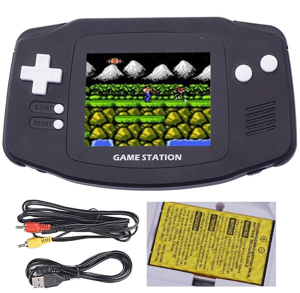 OMKARSY Retro Mini 2.8 Inches Handheld Video Game Console Large Screen with Built-in400 Classic Games,Support TV Play Present for Boy Kids Adult (black)
