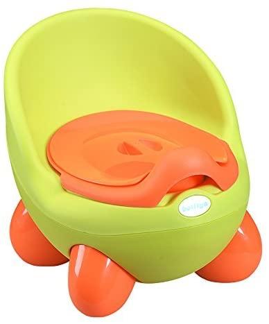 Aisport Baby Kids QQ Egg Potty, Kids Toilet Training Potty Perfect Mommy's Helper for Potty Training(Egg Apple Green Orange)