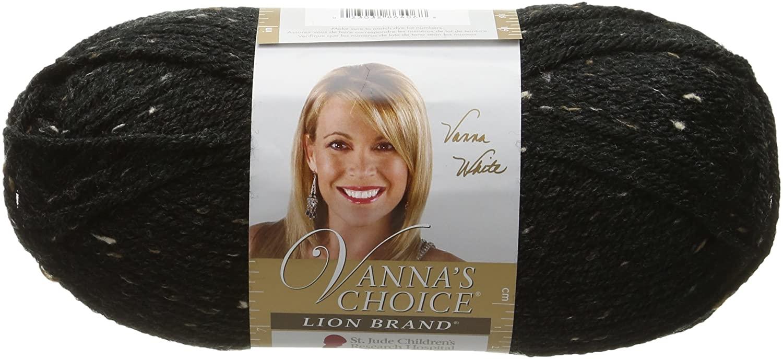 Lion Brand Yarn 860-406 Vanna's Choice Yarn, Obsidian
