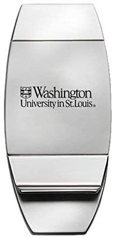 LXG, Inc. Washington University in St. Louis - Two-Toned Money Clip - Silver