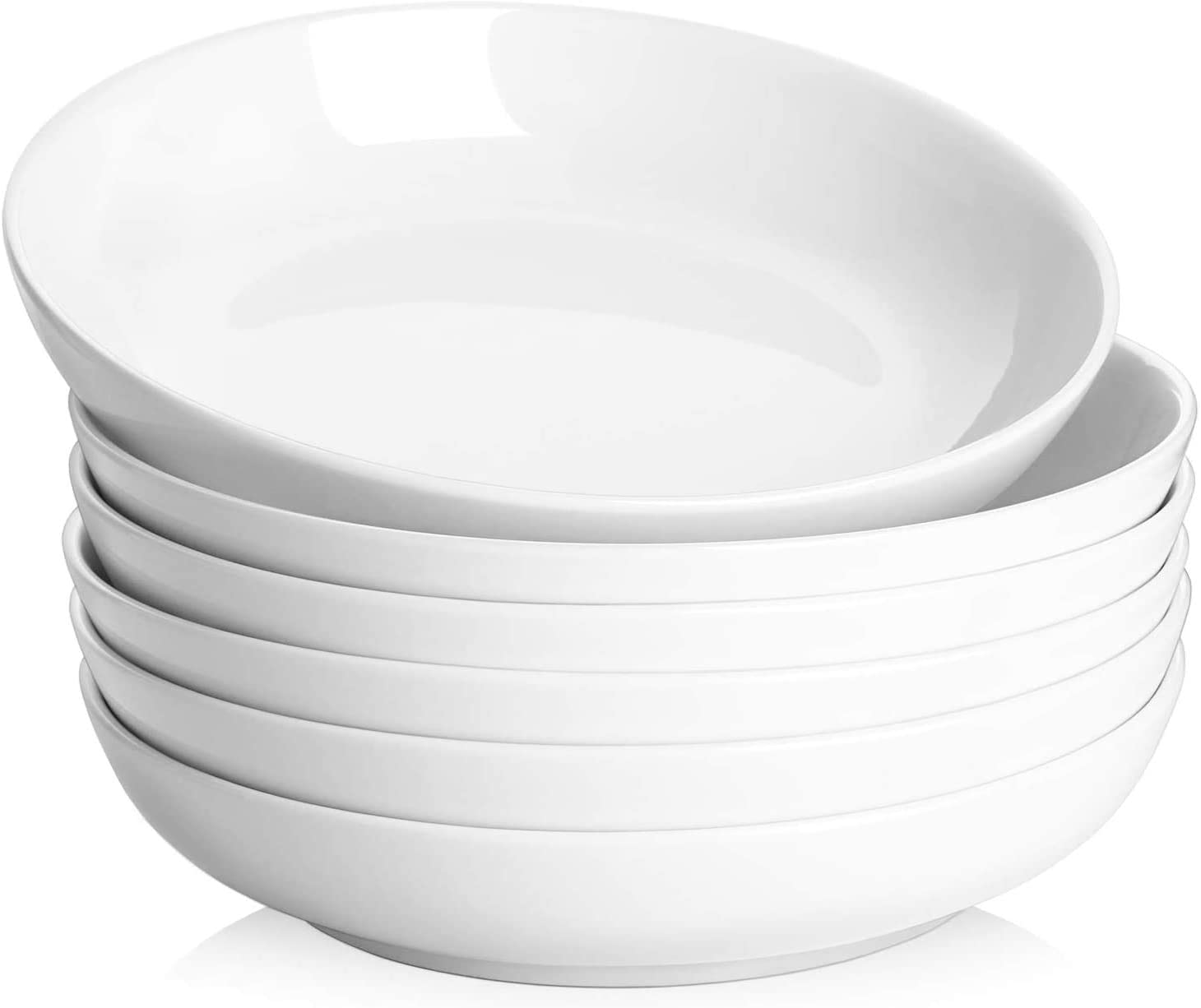 Y YHY Pasta Bowls,Large Salad Serving Bowls,White Soup Bowl Microwave Safe,Sturdy Porcelain