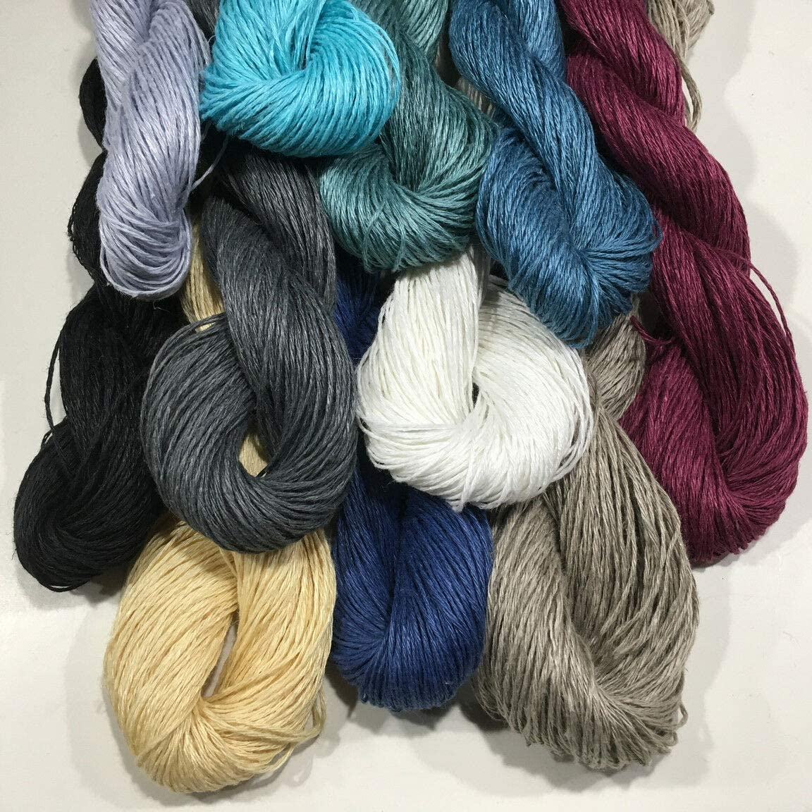 Flax Yarn, DK Weight, 50 Grams, Crochet, Knitting, Weaving. (Black)