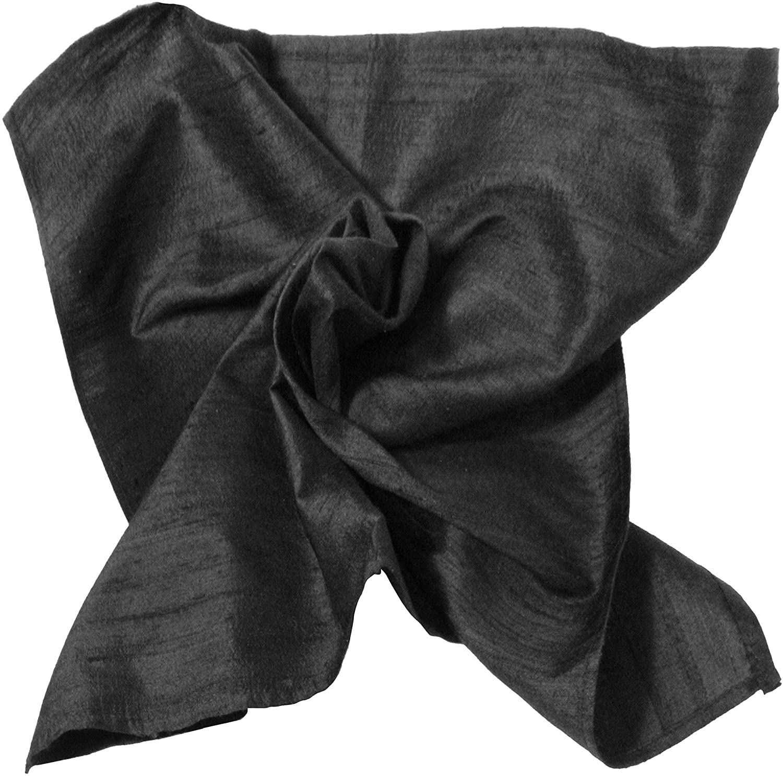 Rich 100% Silk Dupioni Pocket Square - Full-Sized 16
