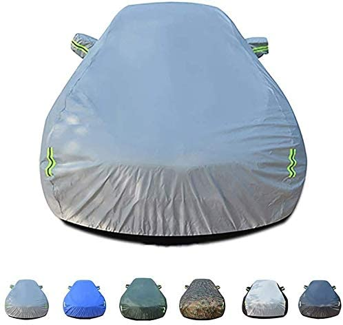 LIYGG Car Cover, Waterproof Rainproof UV Protection Breathable Outdoor Car Protective Cover All Weather Fit A-UDI R8 Sports Car