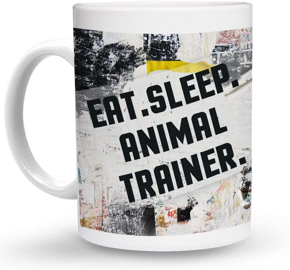 Makoroni - EAT SLEEP ANIMAL TRAINER 6 oz Ceramic Espresso Shot Mug/Cup Design#24