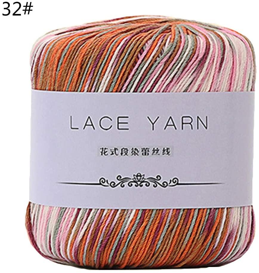 minansostey 1 Bundle 10 Strands Acrylic Hand Knitting Yarn Lace Crochet Thread Cord DIY Embroidery Needle Sewing Accessory