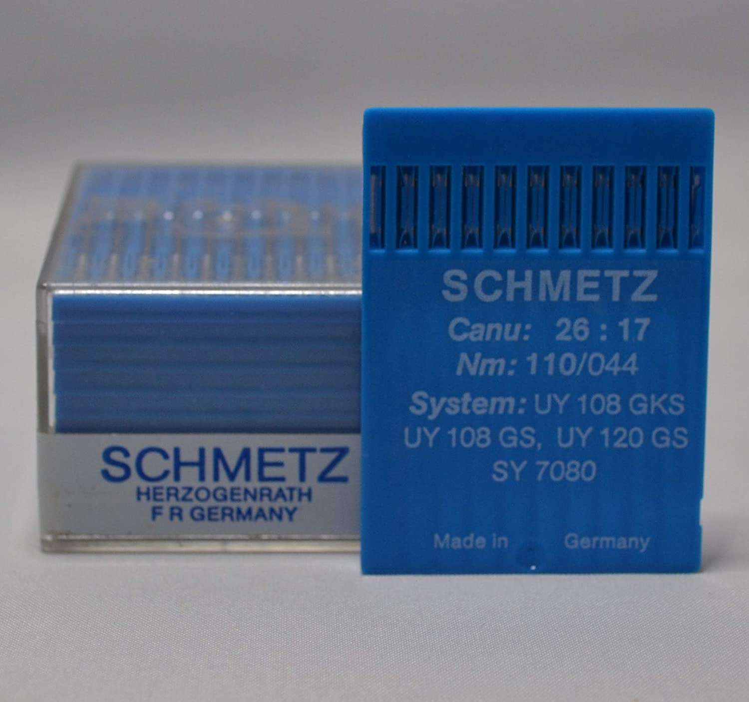 100 SCHMETZ Sewing Machine Needles Nm: 110/044 ; System: UY 108 GKS ; UY 108 GS ; UY 120 GS ; SY 7080