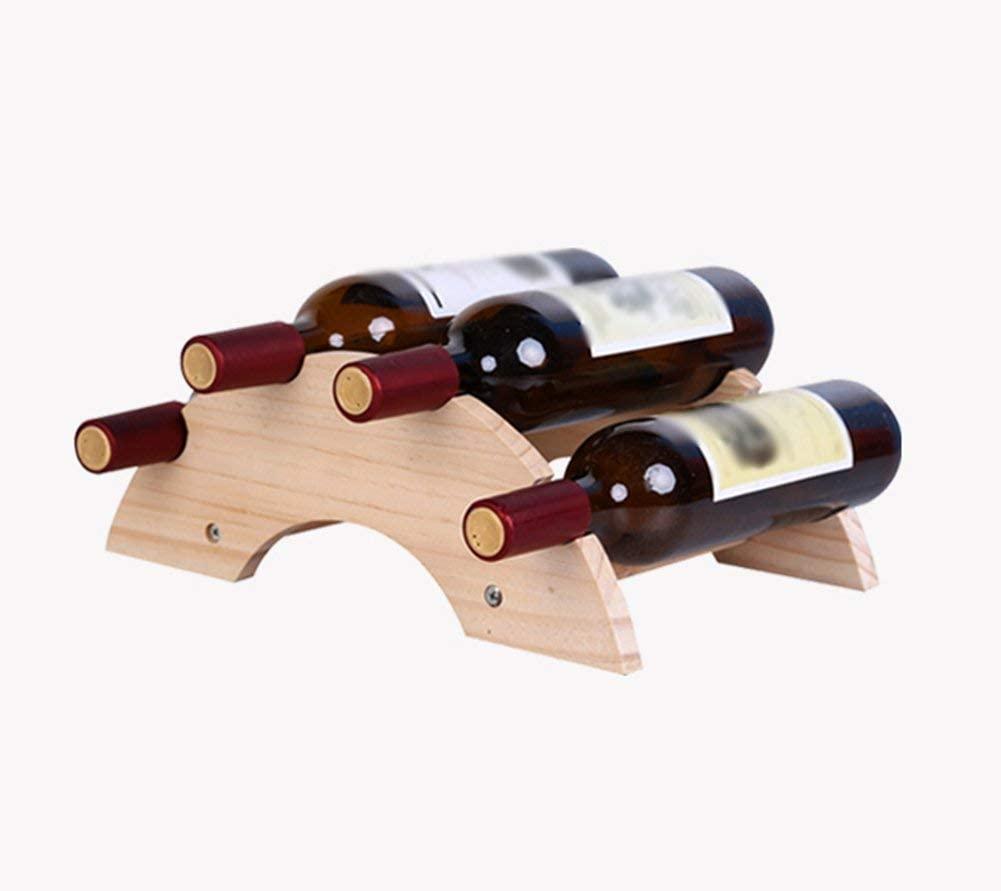 Lefran Wine Rack Small Wine Rack Creativity Solid Wood Wine Rack Continental Ornaments Wine Rack Household Simple Bottle Rack.