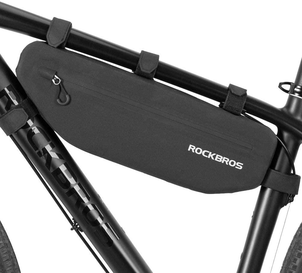 ROCKBROS Bike Frame Bag Waterproof Bike Triangle Bag Bicycle Under Top Tube Bag Corner Pouch Storage Bag for Cycling Accessories