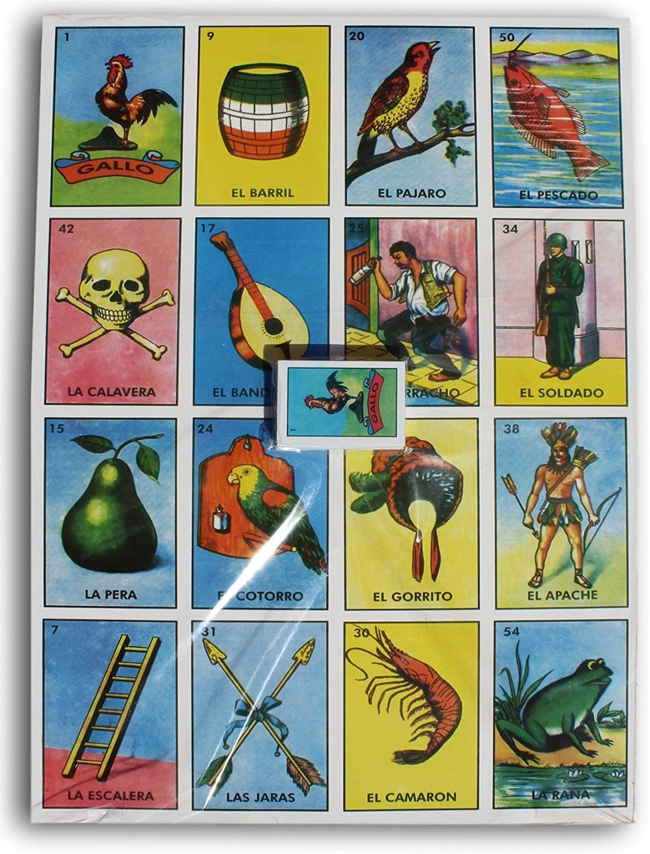 Trade MX Super Jumbo Loteria Mexican Bingo 24