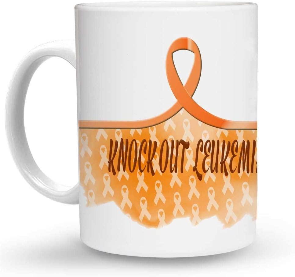 Makoroni - KNOCK OUT LEUKEMIA Cancer Awareness 6 oz Ceramic Espresso Shot Mug/Cup Design#65