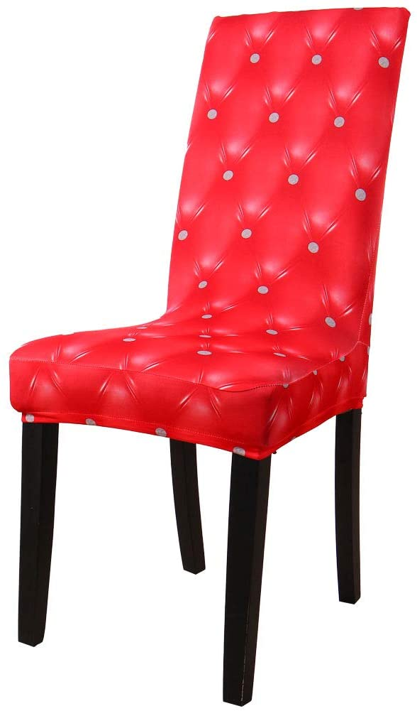 uxcell Dining Chair Cover,Stretch Bar Stool Slipcover Kitchen Chair Protector Spandex Chair Seat Cover for Home Decorative/Dining Room/Party/Wedding (Medium,3D Pattern 16)